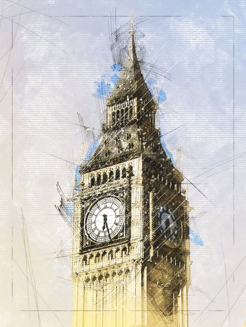 united kingdom clock clock tower