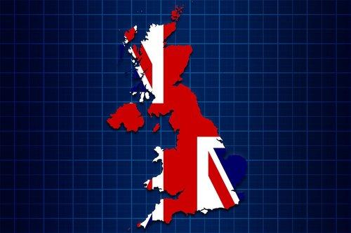united kingdom  uk  map