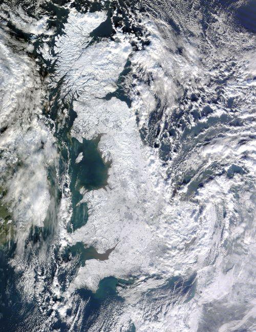 united kingdom winter aerial view