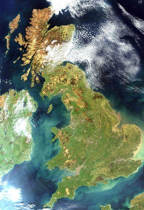 united kingdom england satellite image