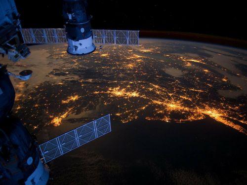united states atlantic coast night