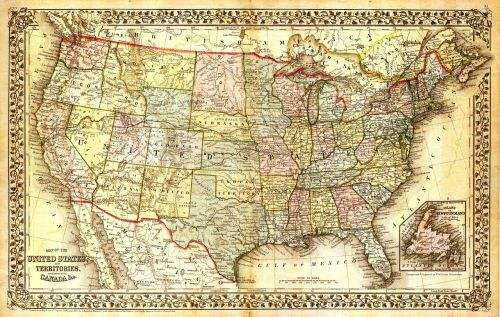 united states map north america map map