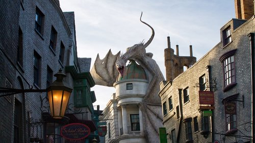 universal studios  harry potter  dragon