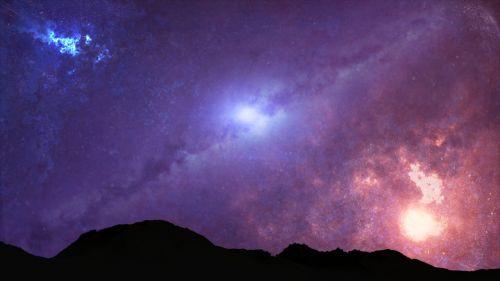 universe galaxy night
