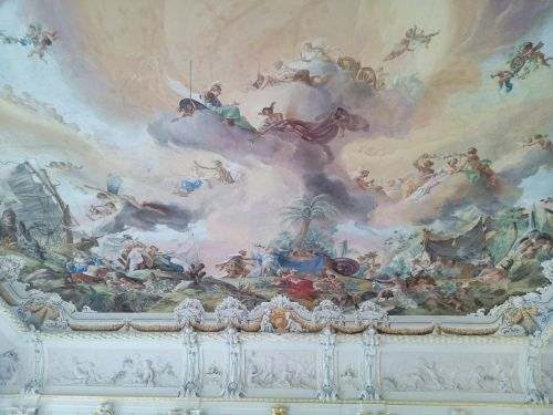 unterschleissheim germany castle frescoes