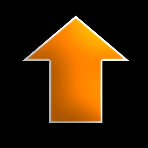 up arrow yellow