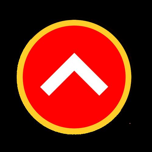 up arrow web design clipart