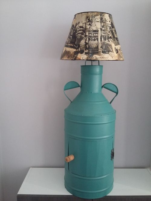 upcycling idea lamp