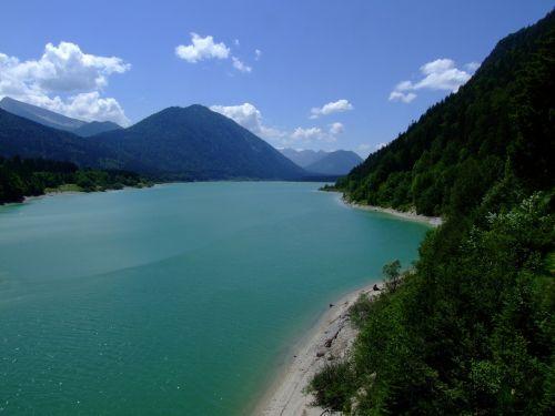 upper bavaria walchensee lake
