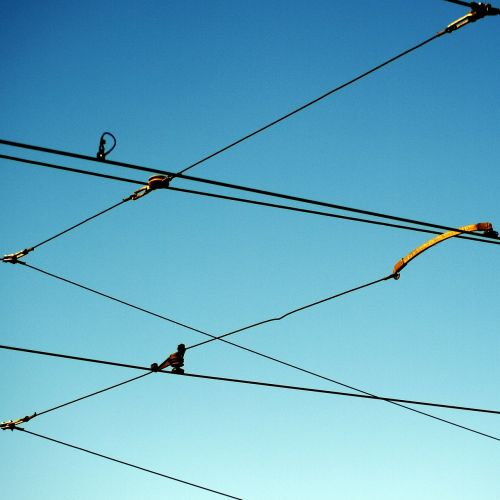 upper lines power lines wires