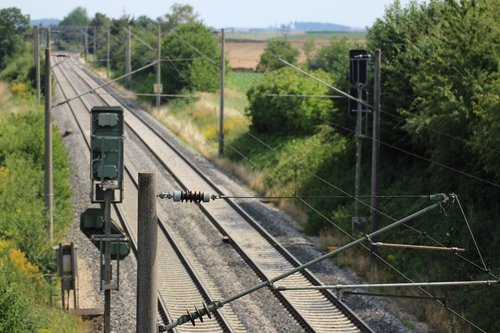 upper lines  railway rails  railroad tracks