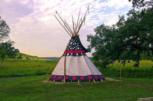 upper sioux agency teepee  teepee  tent