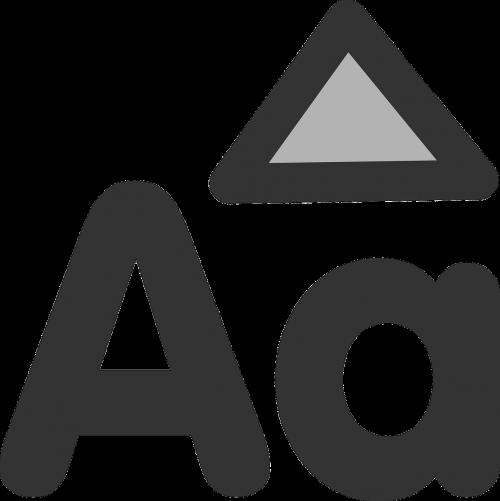 uppercase symbol icon