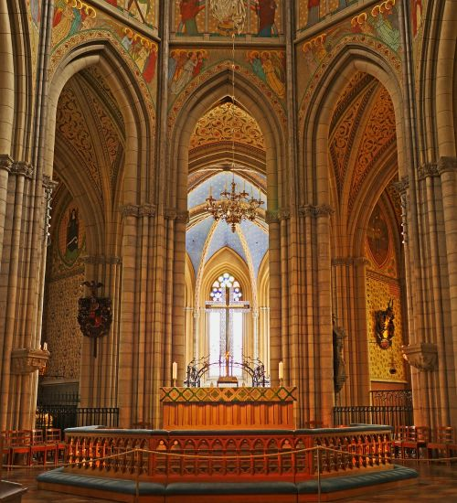uppsala cathedral sanctuary the coronation church