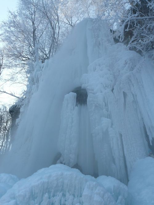 urach waterfall frozen winter