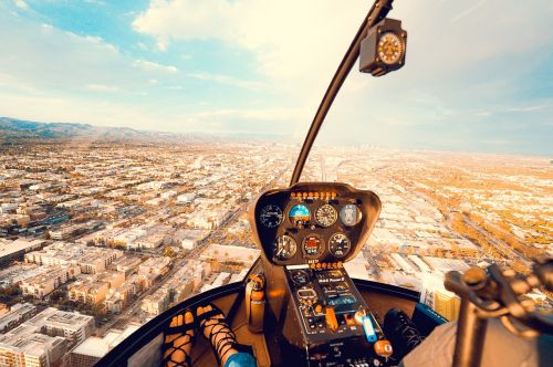 urban city aerial