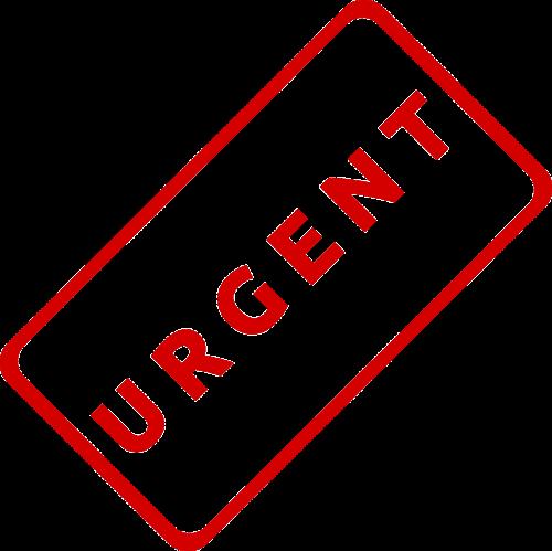 urgent business document