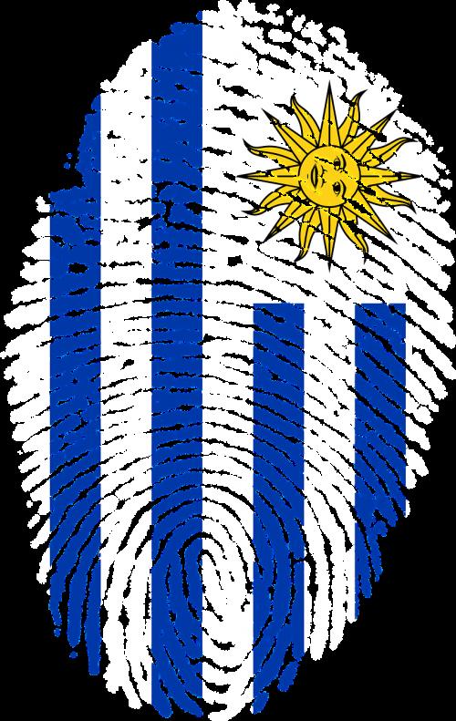 uruguay flag fingerprint
