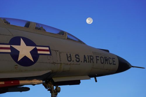 us air force fighter jet moon
