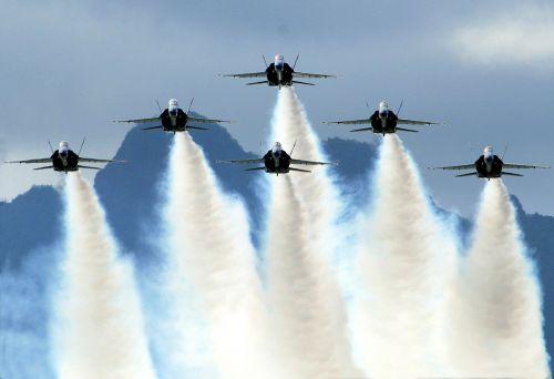 us navy blue angels jet