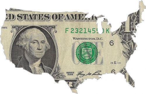 usa map dollar