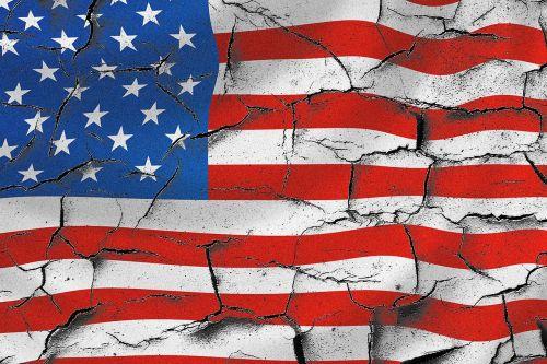 usa american flag cracked usa flag