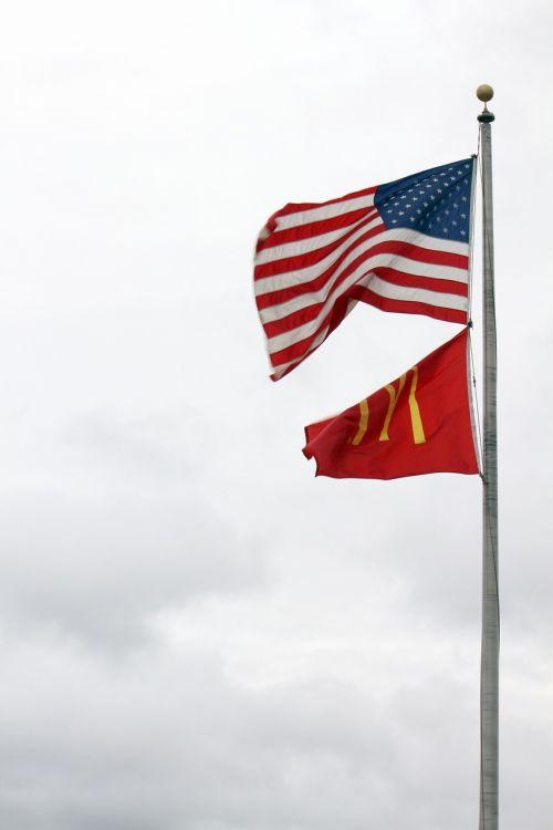 usa mcdonald's flags