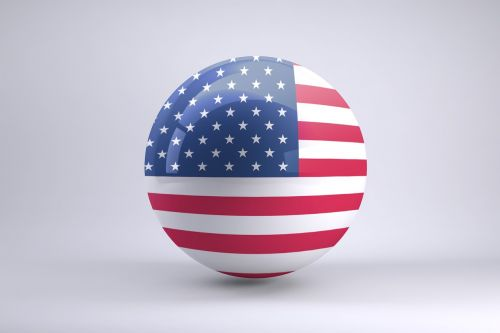 usa flag sphere ball