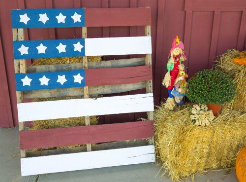 USA Flag Pallet