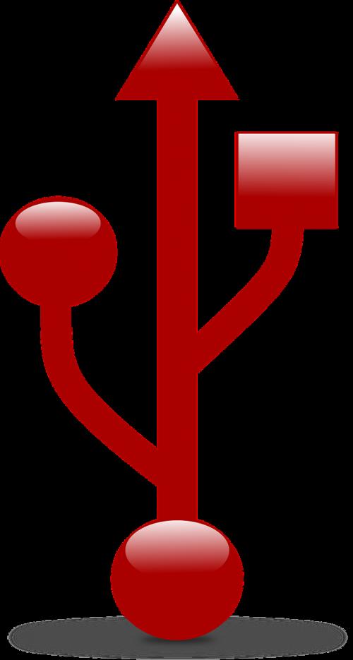 usb symbol usb computers