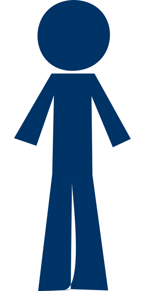 user,stick man,person,navy,blue,men,free vector graphics