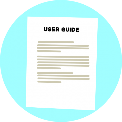 user guide instructions text