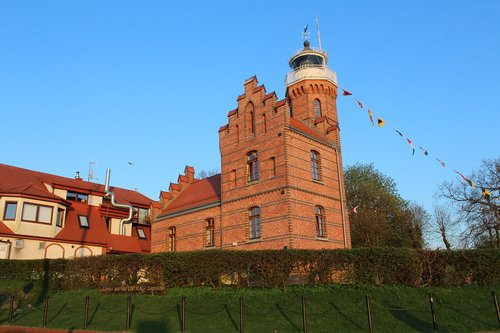 ustka  lighthouse  navigation