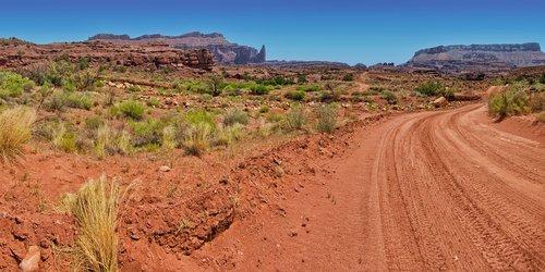 utah  dirt road  desert