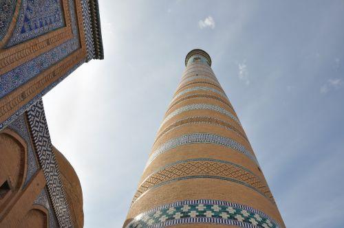 uzbekistan khiva minaret