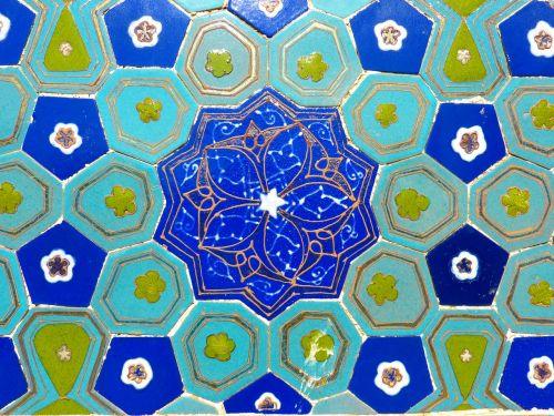 uzbekistan mosaic pattern