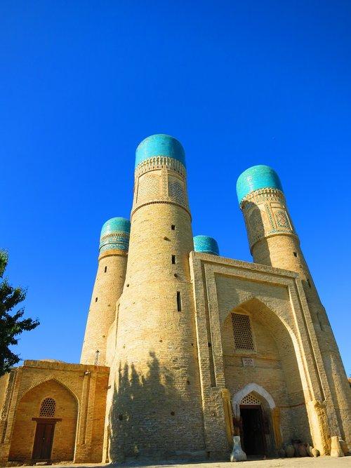 uzbekistan  mosque  blue sky
