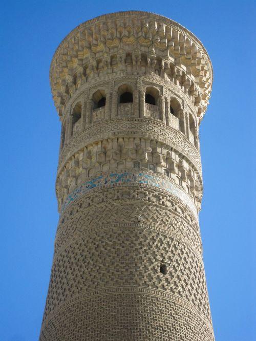 Uzbekistanas, Bukhara, minaretas, islamas