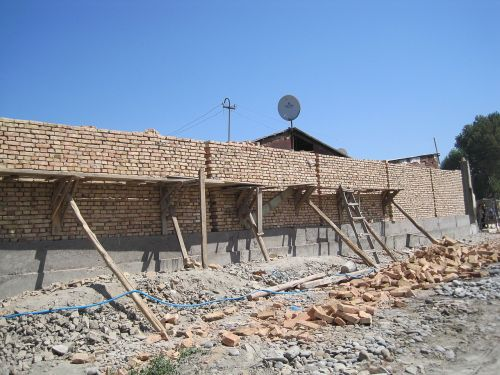 uzbekistan scaffolding masonry