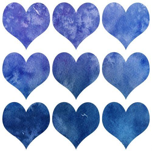 valentin heart watercolor