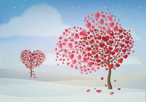valentine day tree