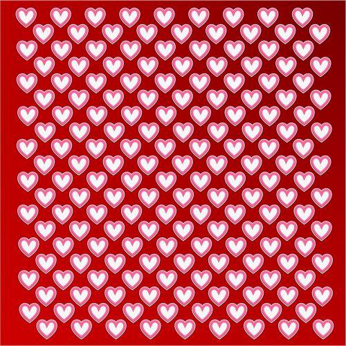 valentine heart pattern