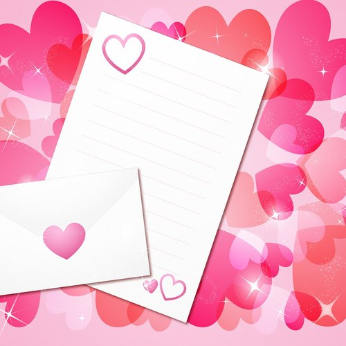 valentine background  bokeh hearts  pink