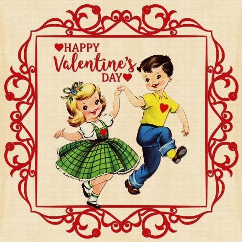 Valentine Children Vintage Card