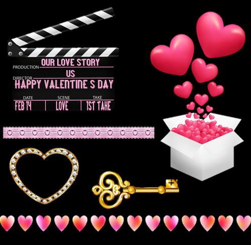valentine clip art  valentine banner  valentine candle