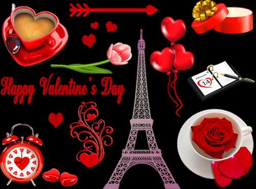 valentine clip art  eiffel tower french  valentine clock