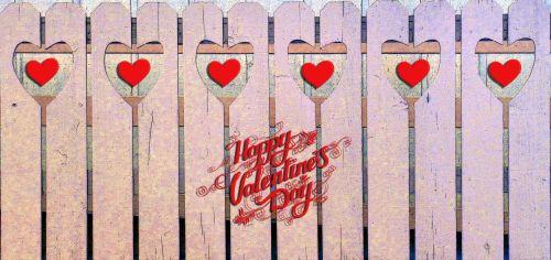 Valentine's Day Fence