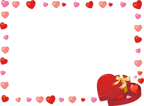 valentine frame clip art  hearts  candy