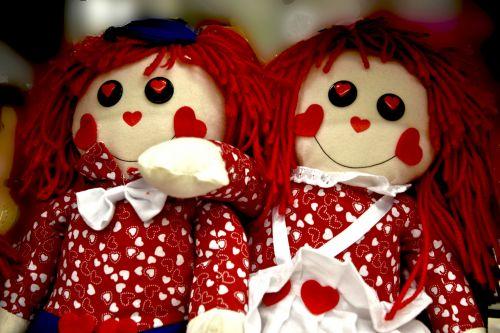 Valentine Rag Dolls