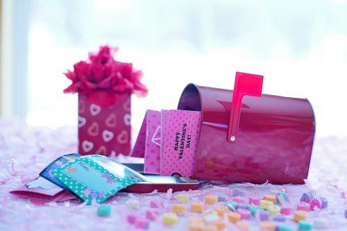 valentine's day red mailbox valentines in mailbox
